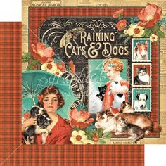Graphic 45 - Raining Cats and Dogs - 12 x 12 Raining Cats and Dogs