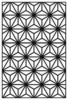 Motif Art Déco à colorier - Style n°10A partir de la galerie : Art Deco