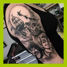 Pirate ship tattoo. Compass. Peter Pan. | Inked (and not ...