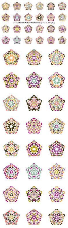 24 Floral Pentagon Logo Templates #GeometricLogo #AbstractLogoTemplates #polygons #graphic #welness #floralgraphic #polygon #digital #set #multicoloredgraphic #geometry #LogoDesignTemplate #logo #AbstractLogo #LogoDesignTemplates #floral #logos #purplegraphic Pentagon Logo, Pentagon Shape, Abstract Logo, Geometric Logo, Logo Design Template, Logo Templates, Best Logo Design, Logo Background, Pattern And Decoration