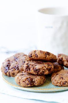 suikervrije chocolate chip koekjes Healthy Pastry Recipe, Healthy Pie Recipes, Healthy Baking, Lunch Snacks, Vegan Snacks, Vegan Desserts, Healthy Snacks, Healthy Birthday Cakes, Sugar Cravings