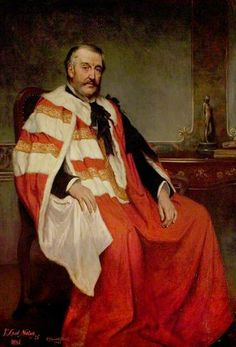 """""""Charles Bower Adderley (1814–1905), 1st Lord Norton"""", 1891, by George Percy Jacomb-Hood (British, 1857-1929)."""