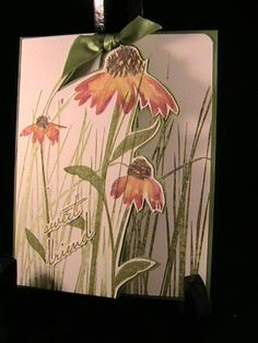 3/29/2011; Susie Nelson at Splitcoaststampers using SU products; Inspired by Nature and Hello You (Simply Sent Kit)