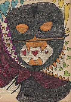 Rémi Faure (Wieder viele Zähne! Aber auch Herzen, kontrastierend zum schwarzen Gesicht und den spitzen Zähnen!)