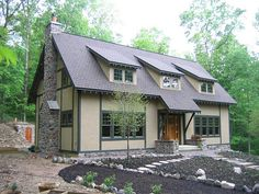 off the grid house. complete with root cellar.  A little more tradional feel, but nice, inside could be awesome!