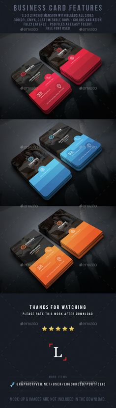 Shade Corporate Business Card — Photoshop PSD #modern design #red • Available here → https://graphicriver.net/item/shade-corporate-business-card/14633826?ref=pxcr