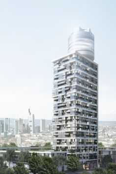 Wohnhochhaus Henninger Turm: Entwurf der Architekten Meixner, Schlüter und Wendt.