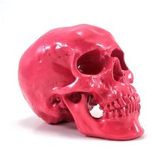 Neon Pink Skull, Boho Chic, Girly Gothic, Pink Decor, Neon Art, Bohemian Decor