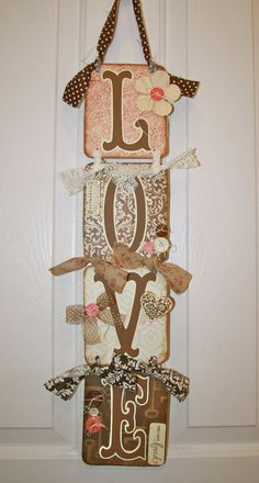 Valentines Sign/Hanging Sign/Valentine Decor/Love by Tweetfeathers, $30.00