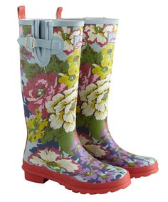 Joules Welly Print Womens Rain Boots