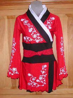 iSkatewear.com Japanese Kimono ice skating competition dress