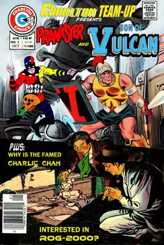 Charlton Team-Up #4 - Prankster & Son of Vulcan, Charlie Chan & Rog-2000
