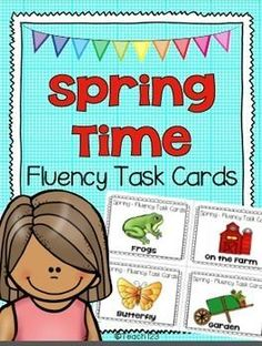 Fluency Task Cards: Frogs, Butterfly, Plants, Ocean #TPT $Paid