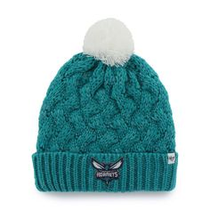 Womens Charlotte Hornets '47 Brand Teal Fiona Cuff Knit Beanie, Your Price: $21.99