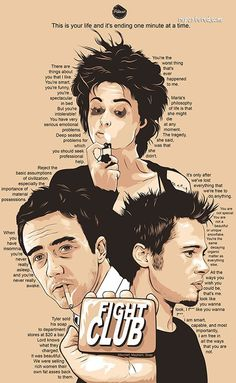 Alternative movie poster for Fight Club, made by Oliver Merza
