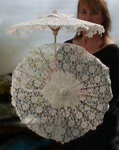 Small Lace Parasol  Flowergirl by designAnn on Etsy, $35.00