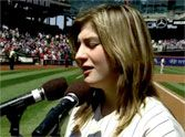 Listen to this 14 Year-Old Autistic Girl StunThousands With Her Performance of the National Anthem.  What a beautiful, sweet young girl.  At the end the announcer says she is working to raise awareness of autism.  Love her!!!