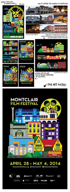 The process behind designing the 2014 Montclair Film Festival poster.