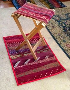 Necktie folding stool | Do It Yourself Home Projects from Ana White