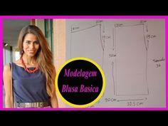 Oi Meus amores, mais um video de modelagem, hoje vou modelar uma blusinha basica das basicas para vcs! espero que gostem... Minhas redes Sociais: Blog: http:...
