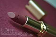 LOreal Color Riche Lipstick - Mulberry 710 - Review