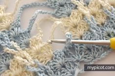 MyPicot is always looking for excellence and intends to be the most authentic, creative, and innovative advanced crochet laboratory in the world. Crochet Motifs, Crochet Stitches Patterns, Crochet Chart, Crochet Doilies, Crochet Lace, Free Crochet, Crochet Flowers, Stitch Patterns, Knitting Patterns