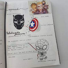 Looking for some awesome Avengers and Justice League Bullet Journal Spread inspiration? We have over DC Comics and Marvel themed bujo spreads to show you! Bullet Journal Writing, Bullet Journal Themes, Bullet Journal Spread, Bullet Journal Inspiration, Book Journal, Journal Ideas, Journals, Avengers Drawings, Avengers Art