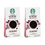 (2 Pack) Starbucks Via Ready Brew, Italian Dark Roast Instant Coffee, 8-Count each