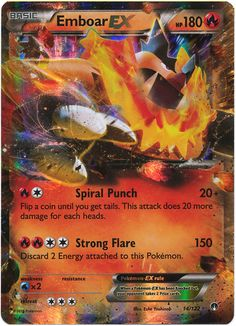 Emboar EX 14/122 Pokemon TCG: XY BREAKpoint, Holo Pokemon Card