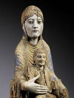 Réunion des Musées Nationaux-Grand Palais - Art Roman, Louvre, Statues, Grand Palais, Clay Figures, Angel Art, Medieval Art, Christian Art, Madonna