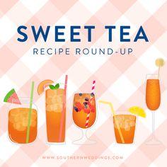 Gracious Hostess: Sweet Tea Recipe Round-Up - Southern Weddings Southern Food, Southern Weddings, Southern Recipes, Southern Style, Mixed Drinks, Fun Drinks, Smoothie Drinks, Smoothies, Sweet Tea Recipes