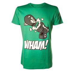 Tee-Shirt Vert Mario Bombe Wham Nintendo