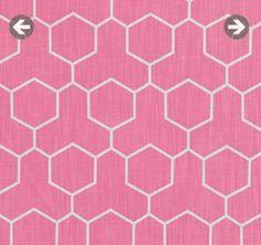 Honeycomb in Pink - Lula Fabrics - GEOMETRICS RANGE