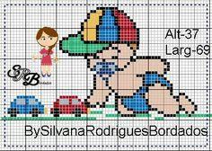 Bem vindo bebê Cute Cross Stitch, Cross Stitch Charts, Cross Stitch Designs, Cross Stitch Patterns, C2c Crochet, Crochet Diagram, Boy Blankets, Boy Quilts, Baby Kind