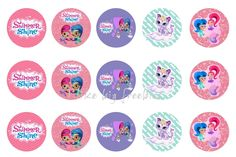 Freebies: Shimmer and Shine bottlecap images for hair bows FREE!