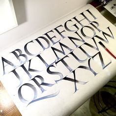 Study of the Roman Capitals - we're drooling over this #typography by Nicolò Visioli