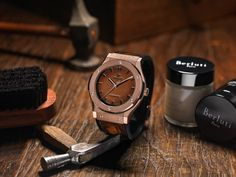 """Hublot Classic Fusion Berluti Watch In All-Black & 'Scritto' - by Aaron Sigmond - Check it out at: aBlogtoWatch.com """"This Spring — precisely when depended on the market — Hublot debuted not only a new watch, but a new kind of watch, the Hublot Classic Fusion Berluti, in two versions: the 'All Black' and the 'Scritto.' The fashion world received it with great fanfare. To those..."""""""