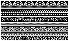 koru designs clip art | fit for a man s body maori border designs clip art maori design picket ...