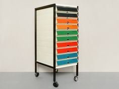 Great little 'movable storage chest'... with color-coded drawers to make it easier to find stuff.
