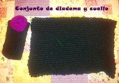 Conjunto de diadema y cuello de lana a dos agujas #diy #conjunto #diadema #cuello #scarf #tejer #knitting #lana #wool #laboresenlaluna