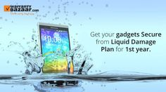 Get your #gadgets secure from #liquid damag plan for 1st year. know more visite: http://www.warrantybazaar.com/