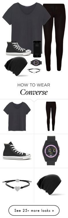 """I think my Prince Charming got stuck in a tree or something"" by skatetofreedom on Polyvore featuring Violeta by Mango, Converse, FOSSIL and adidas"