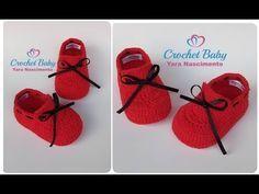 Sapatinho HEITOR de Crochê - Tamanho 09 cm - Crochet Baby Yara Nascimento - YouTube