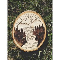 Mountain Scenery Wood Burn by VisuallyDesigned on Etsy https://www.etsy.com/listing/466720996/mountain-scenery-wood-burn