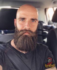 Viking Beard Tips and Styles (Part 2 of – – Wikinger Bart Tipps und Styles (Teil 2 von – – Bald Men With Beards, Bald With Beard, Great Beards, Long Beards, Awesome Beards, Full Beard, Beard And Mustache Styles, Beard No Mustache, Long Beard Styles