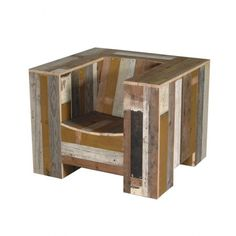 Armchair Enormous in Scrapwood - Piet Hein Eek - Browse by Designer.  Are you kidding me.  This is a cool chair, but I could make this for less than one hundred dollars and this site is asking $3800.00.  Yikes!  I'm in the wrong business.
