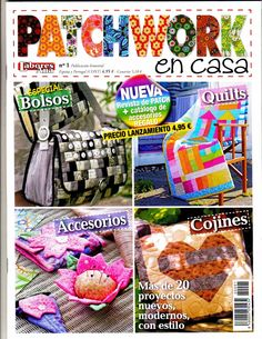 Patchwork and quilting. Japanese Patchwork, Patchwork Bags, Book Crafts, Paper Crafts, Craft Books, Magazine Couture, Sewing Magazines, Quilting, Patch Aplique