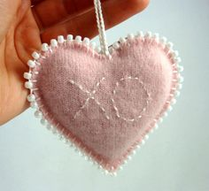 Your place to buy and sell all things handmade Lavender Bags, Lavender Sachets, Sachet Bags, Sewing Lace, Scented Sachets, Christmas Star Decorations, Heart Day, Heart Crafts, Christmas Embroidery