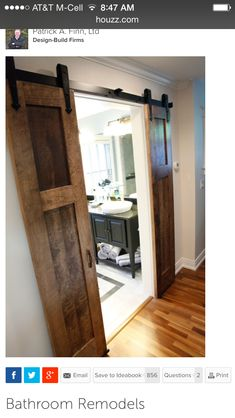 Skinny double barn doors for pantry
