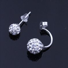 Fashion Jewelry Shamballa Earrings 925 Silver Crystal Disco Ball Shamballa Summer Style Stud Earrings for Women 2015-in Stud Earrings from Jewelry on Aliexpress.com | Alibaba Group